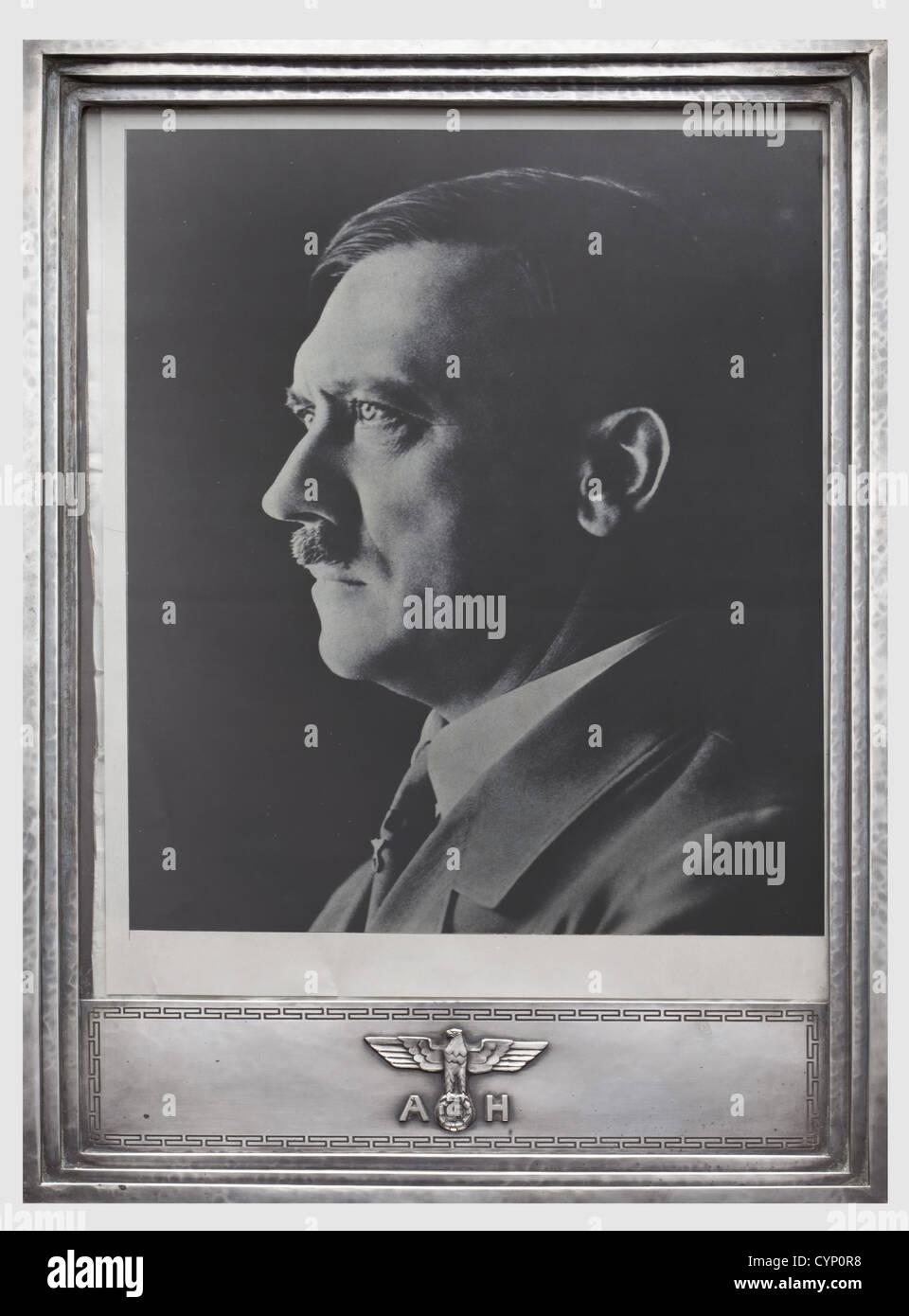 Adolf Hitler - eine offizielle Präsentation Silber Rahmen ...
