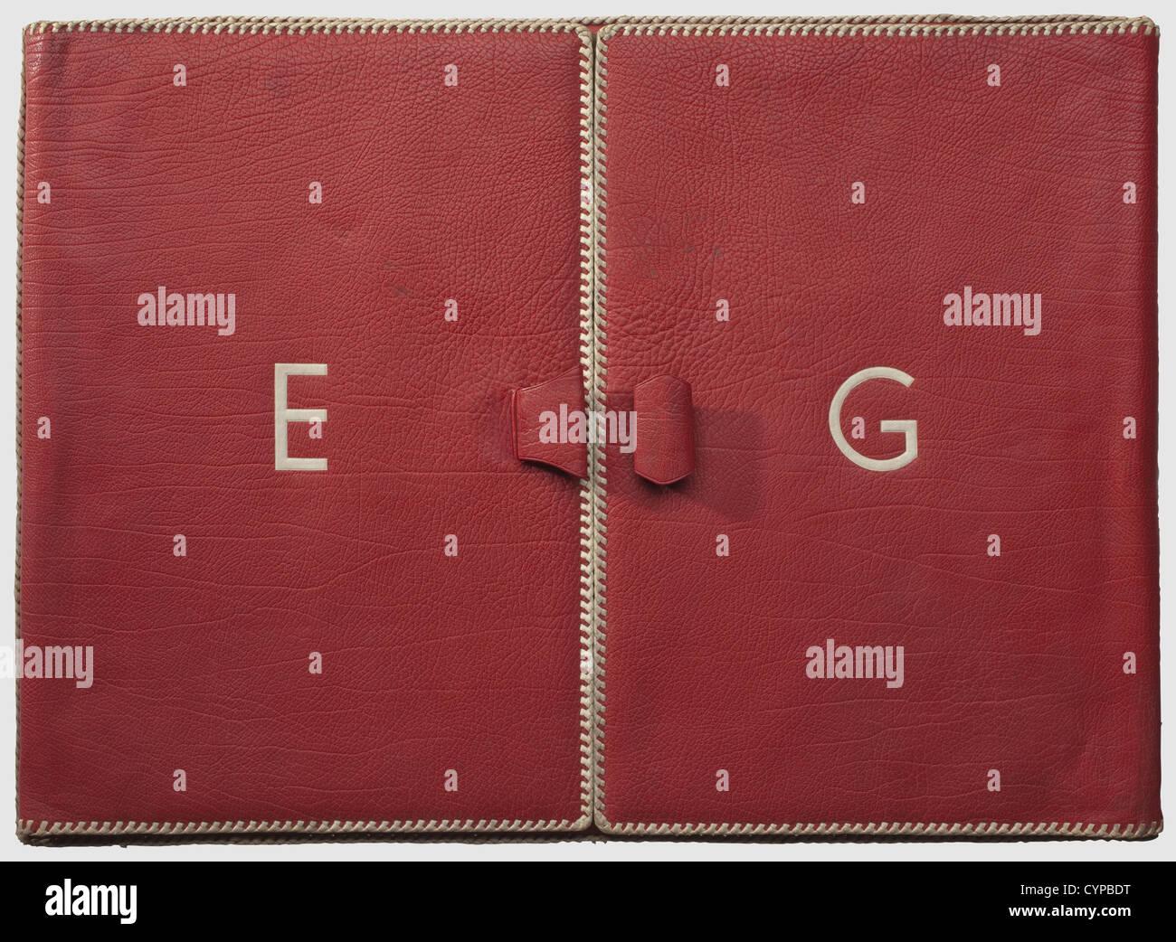Emmy Göring Eine Leder Schreiben Fall Rot Marokko Leder