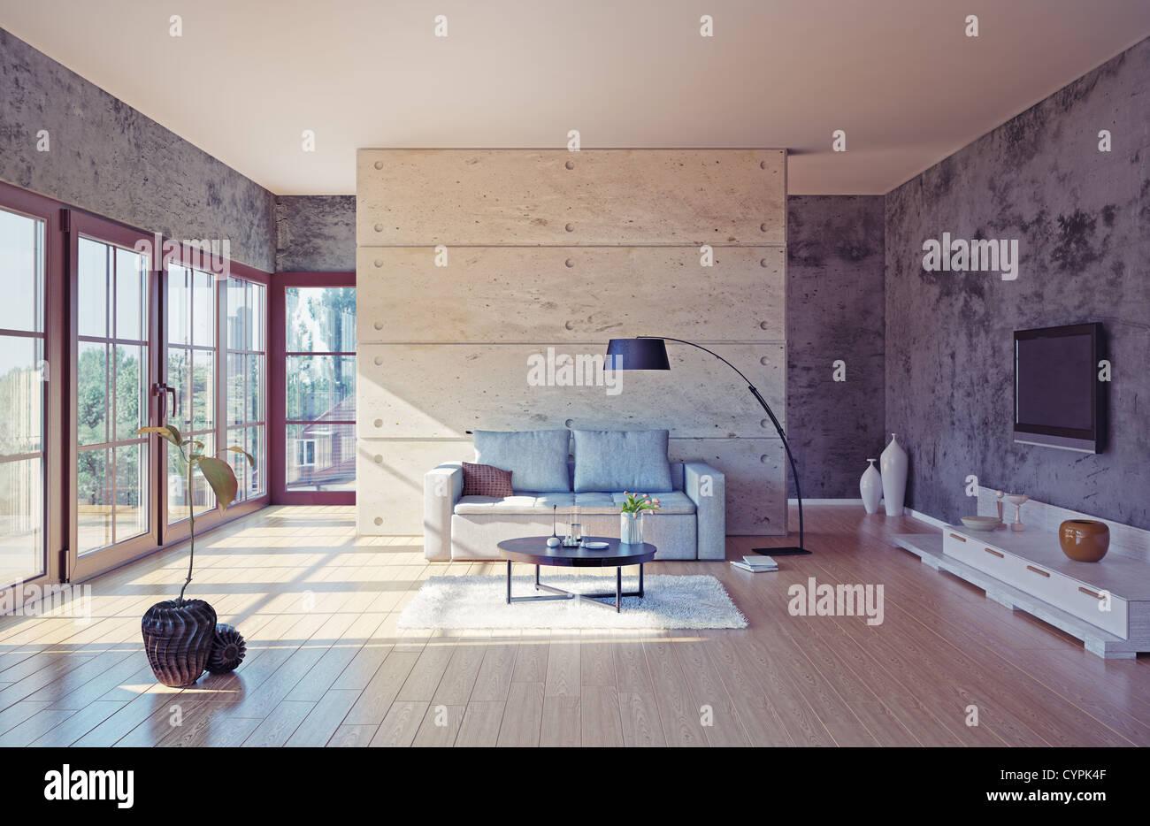 Schöne Moderne Wohnzimmer Interieur (Abbildung)