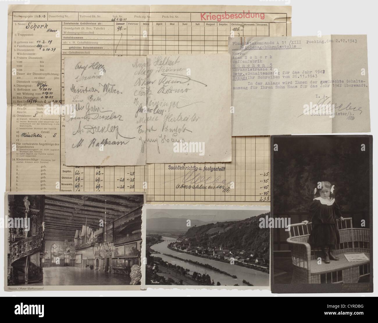 Adam Schork - eine unterschriebene Grußkarte aus den 1920er Jahren ...