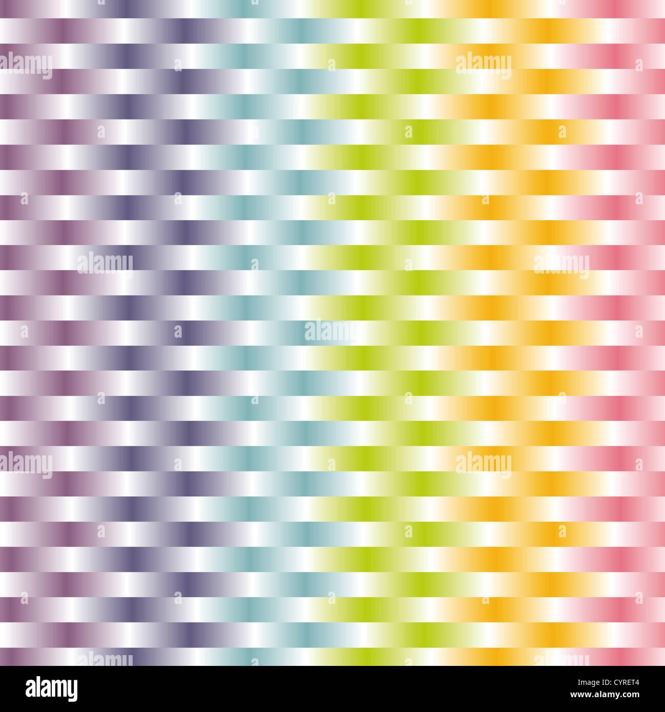 gewebte Hintergrund in Pastell Regenbogen Farbenmuster Stockbild