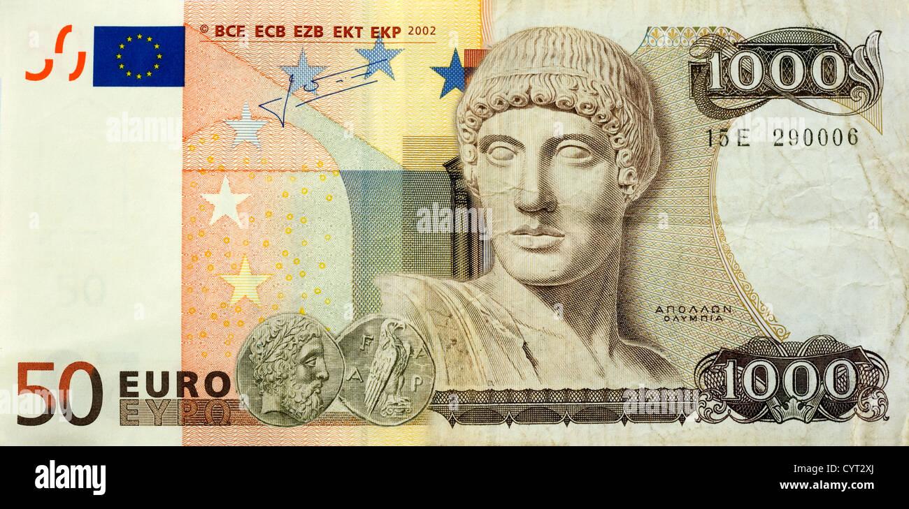 Drachmen Und Euro Stockfotos Und Bilder Kaufen Alamy