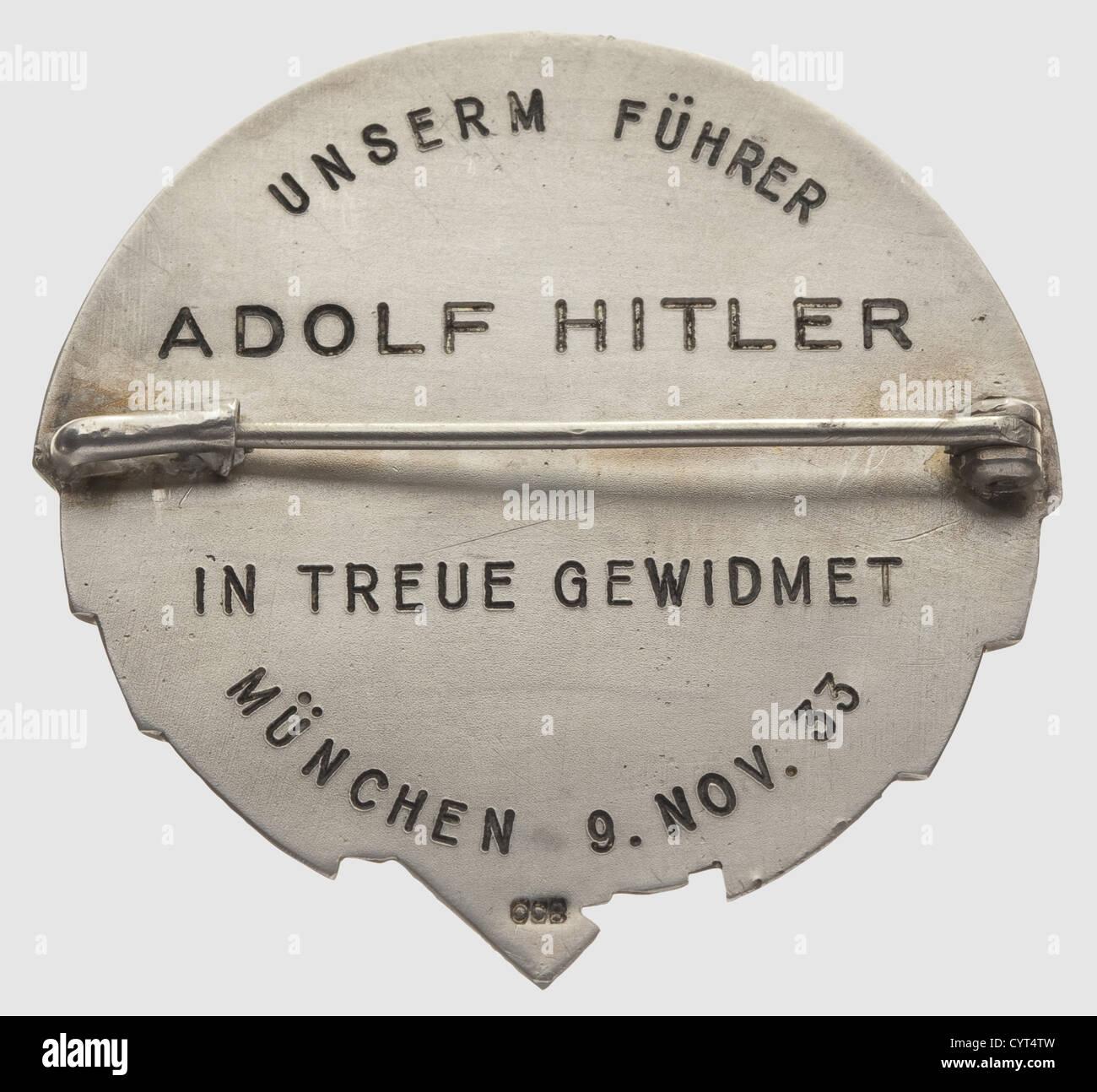 Abzeichen des Jungsturm Hitler, Beispiel für Adolf Hitler aus dem Erbe Stockbild