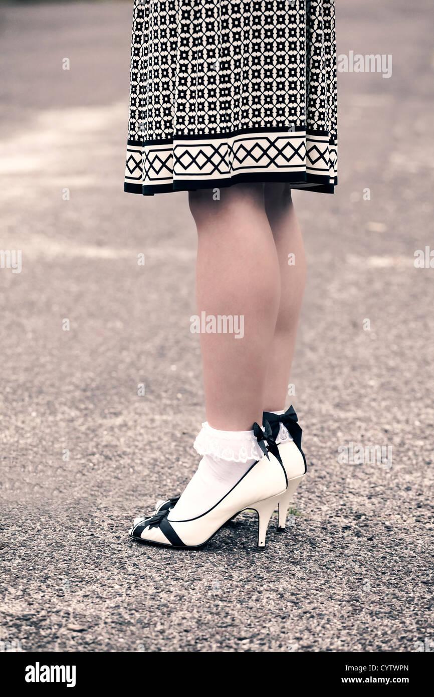 Foot A Woman High Heels Stockfotos & Foot A Woman High Heels