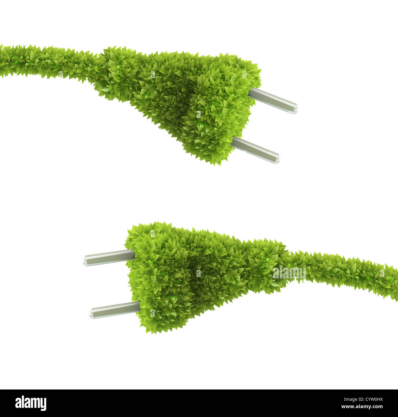 Grass bedeckt Stecker - erneuerbare Energie-Konzept Stockfoto