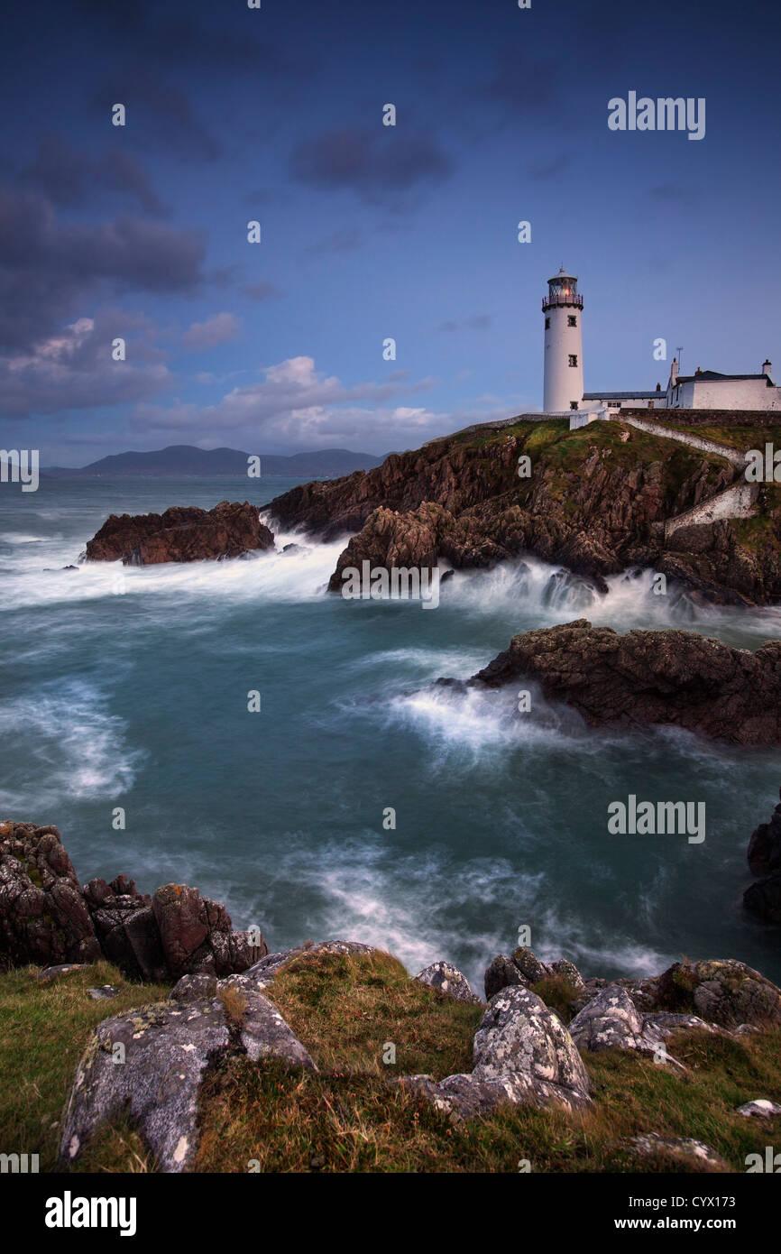 Nacht Schuss von Fanad Leuchtturm auf der Halbinsel Fanad, Grafschaft Donegal. Stockbild