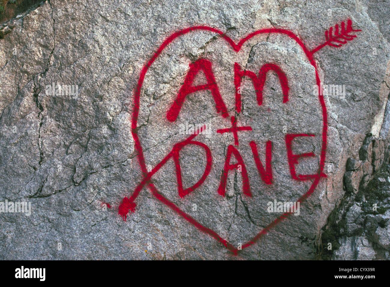 Wahre Liebe Herz Und Romantik Namen Und Initialen Geschrieben In