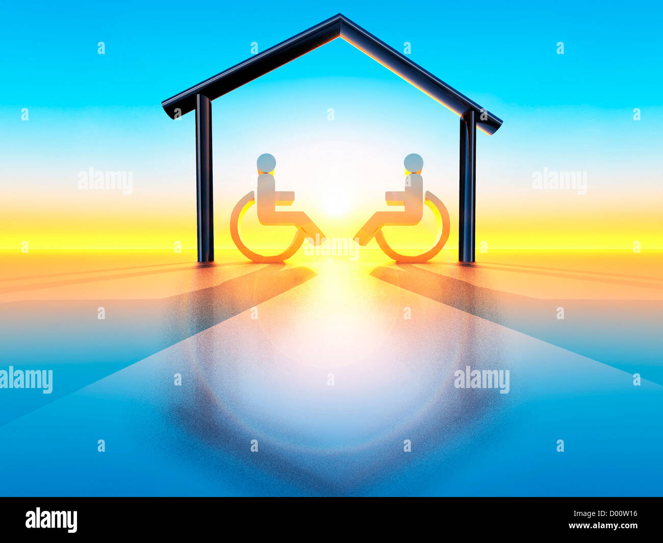 Haus und handicap Stockfoto