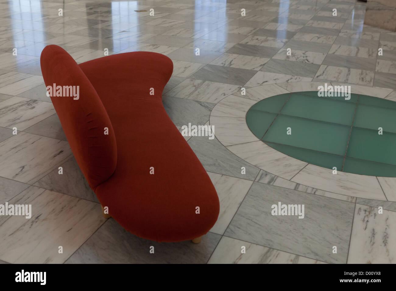 Zeitgenössische Sitzmöbel Design in lobby Stockbild
