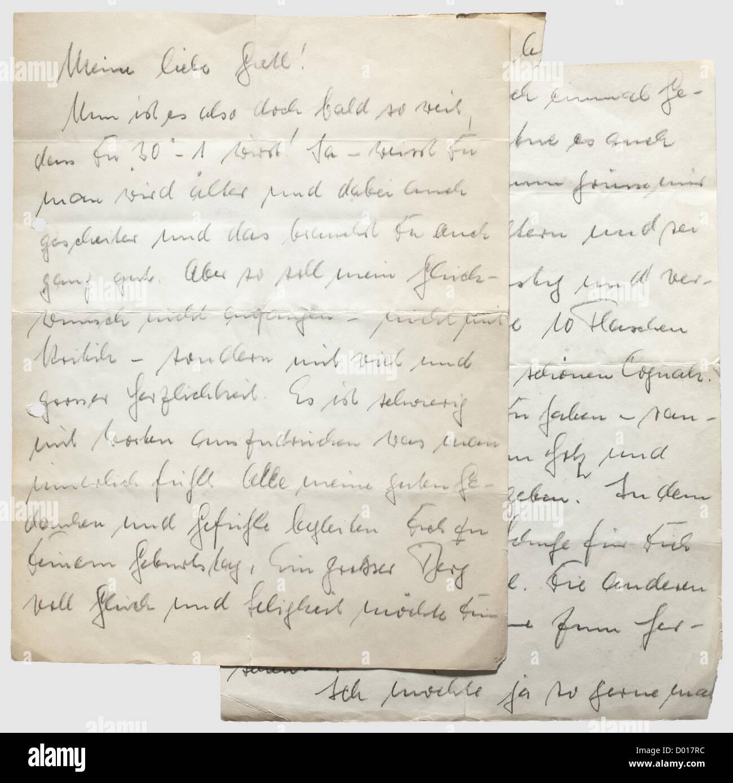 Gretl Braun Brief Von Hermann Fegelein Einen Handgeschriebenen