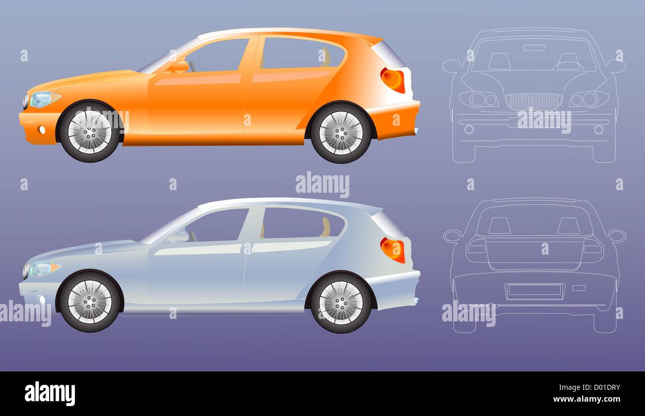 Car Line Drawing Stockfotos & Car Line Drawing Bilder - Alamy