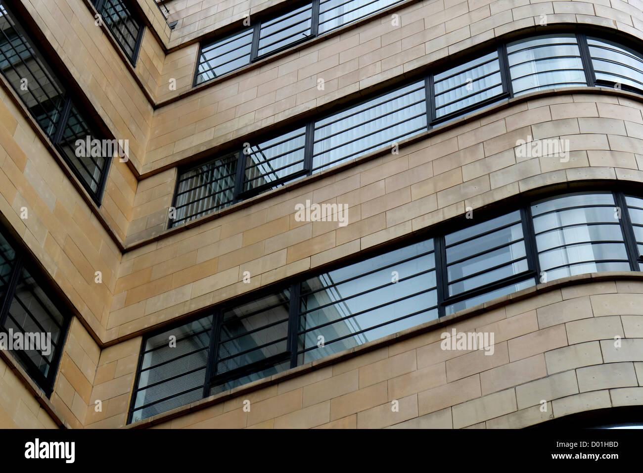 Steinbock Haus, straffen Art Deco Moderne Stil Bürohaus zwischen ...