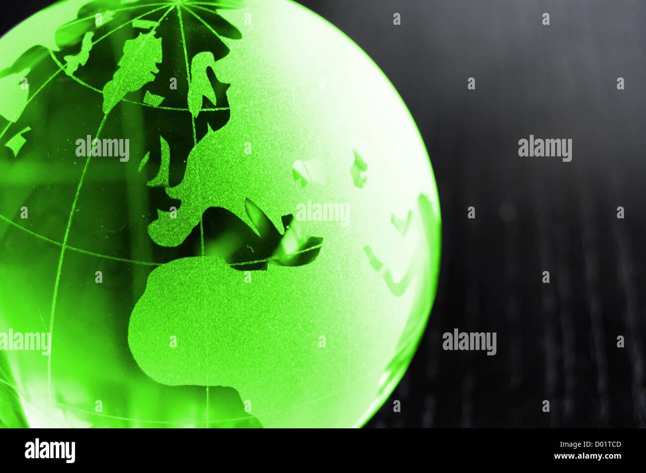 globales Geschäft oder Eco Konzept mit schwarzen Exemplar Stockbild