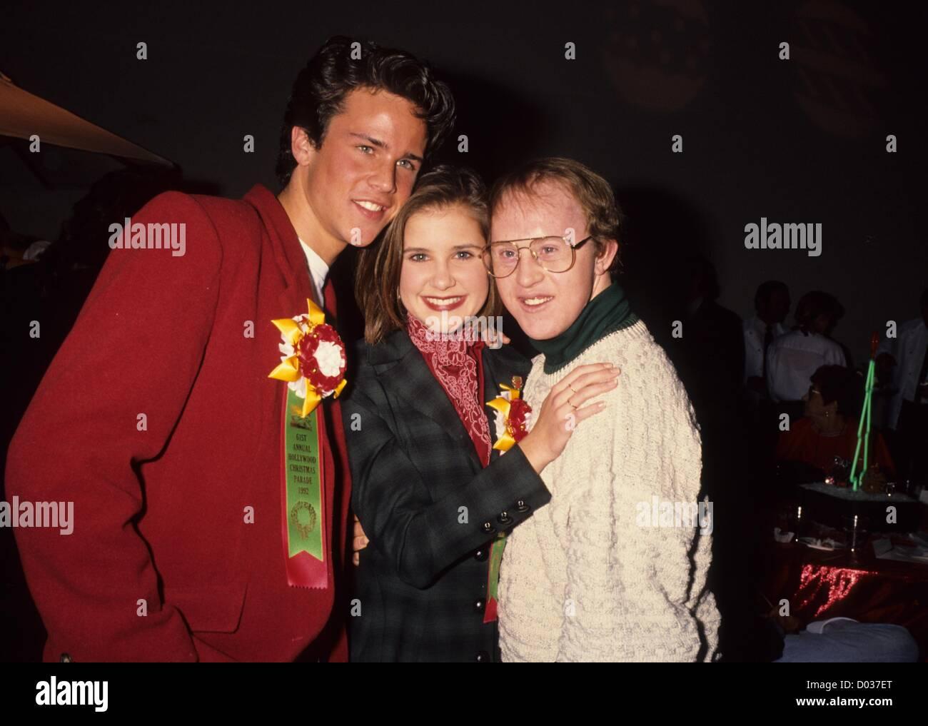 Bill Campbellwith Kelly Martin Und Scott Weinger 1992 Kredit Bild