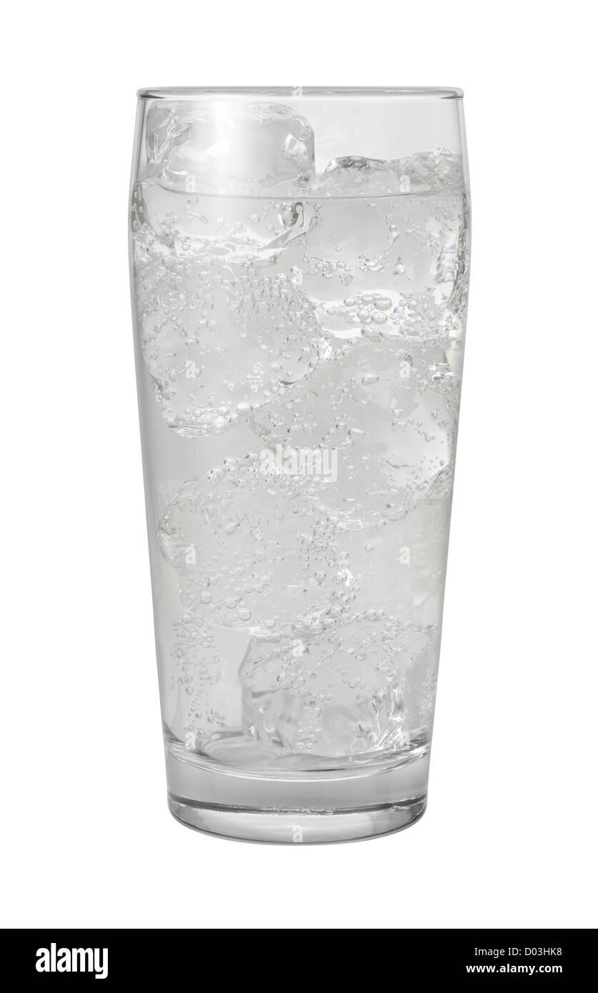 Soda-Club Wasser isoliert auf weiss. Stockbild