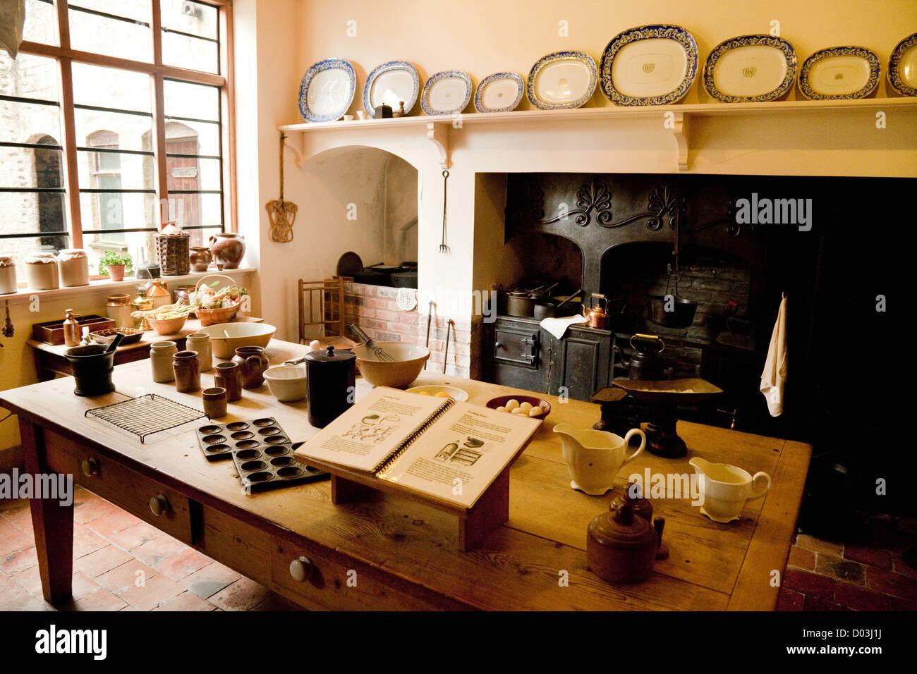 Georgianisches Haus Interieur, Küche, Rosehill House, Darby Häuser ...