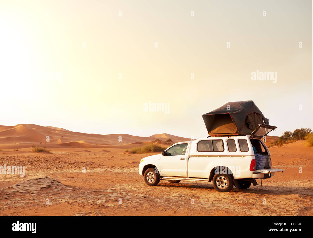 Camp in expedition Stockbild