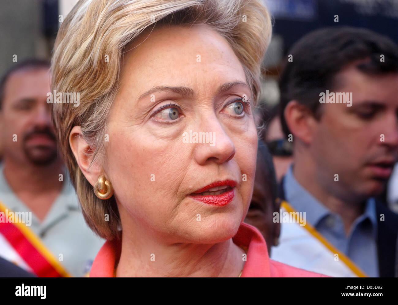 Senator Hillary Rodham Clinton am Labor Day Parade. © Stacy Walsh Rosenstock Stockbild