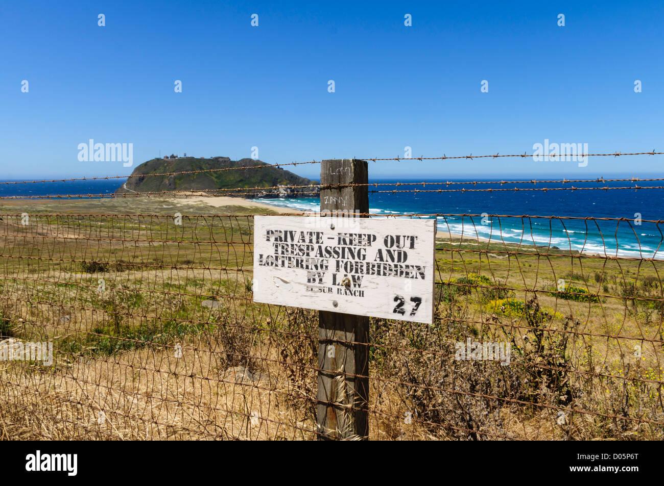 Point Sur Leuchtturm und militärische Anlage mit eingeschränktem ...