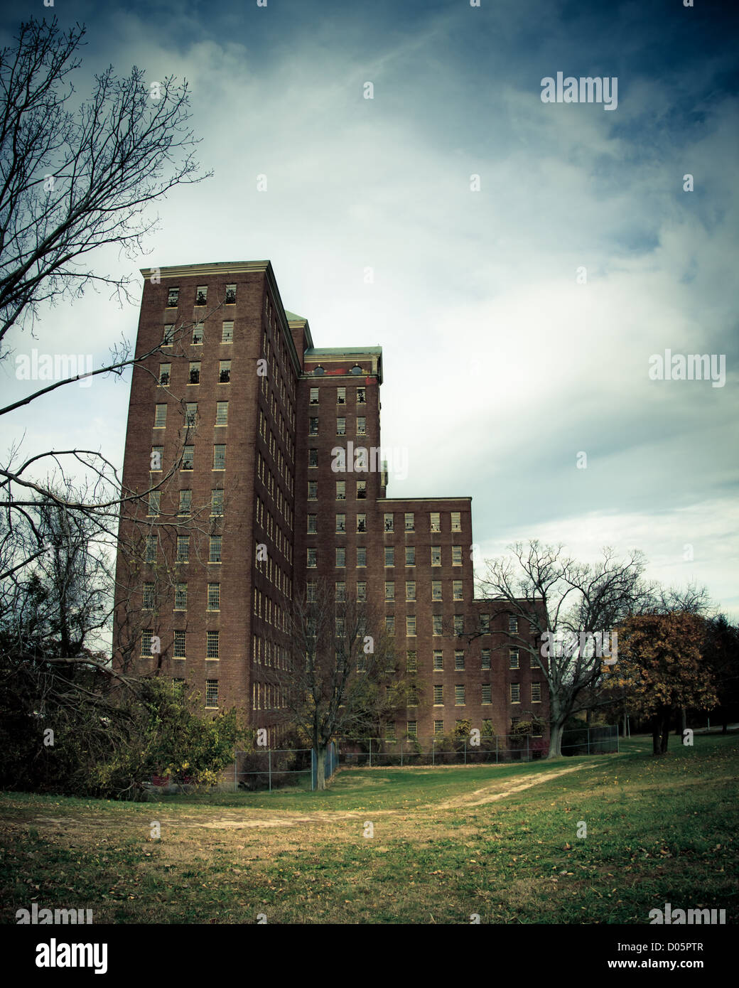Kings Park Psychiatrie in Kings Park New York verlassen Stockbild