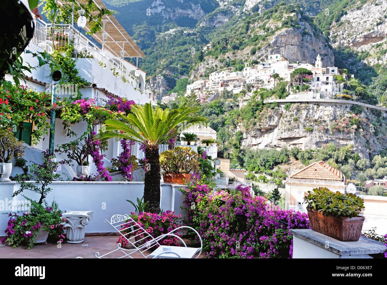 Malerischen Blick Von Einer Terrasse Hotel Poseidon Positano