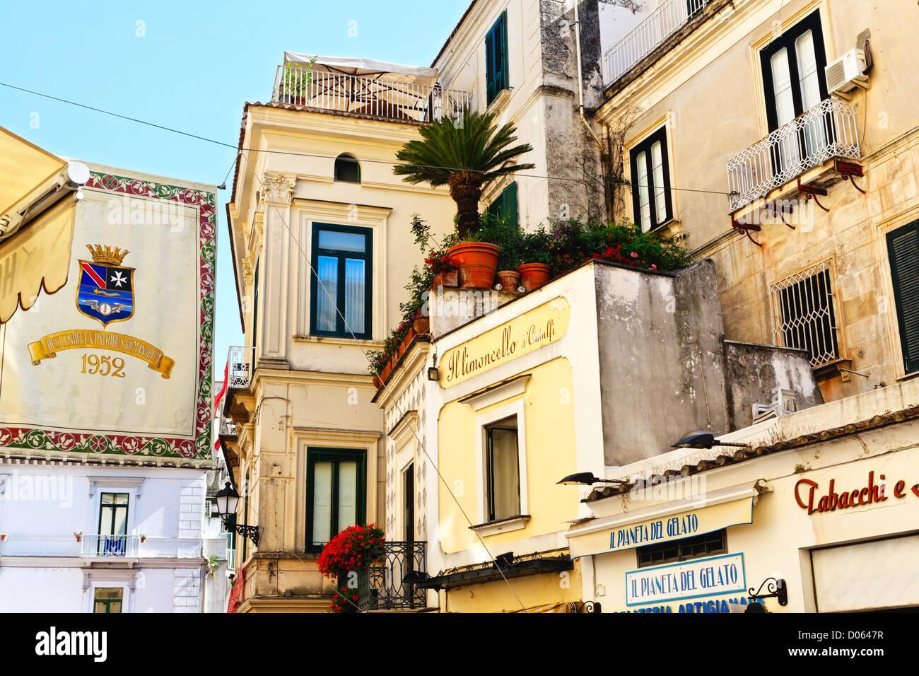Außenbereich, Kampanien, Italien Amalfi-Haus Stockbild