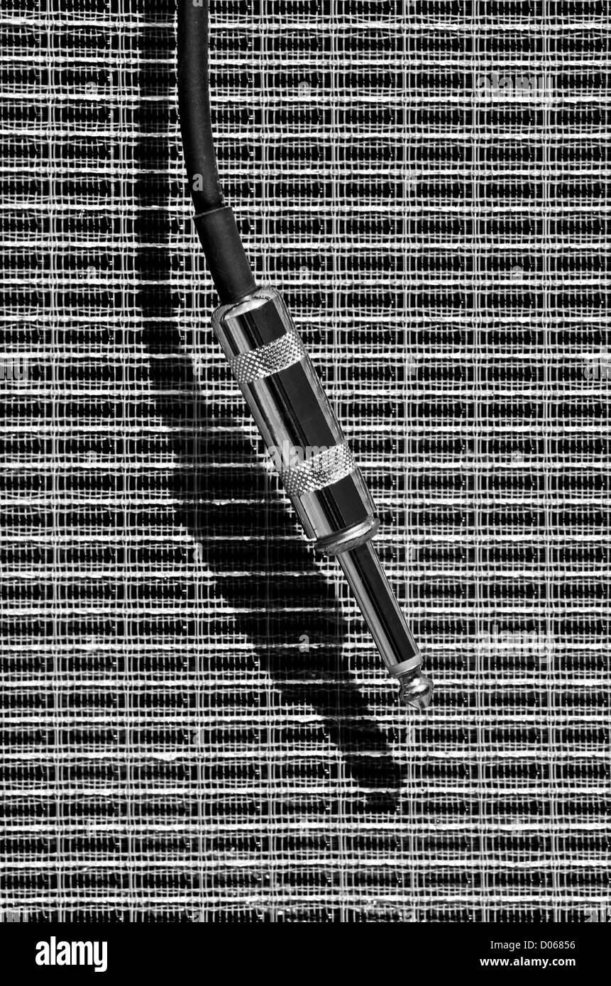 Klinkenstecker-Anschluss Stockbild