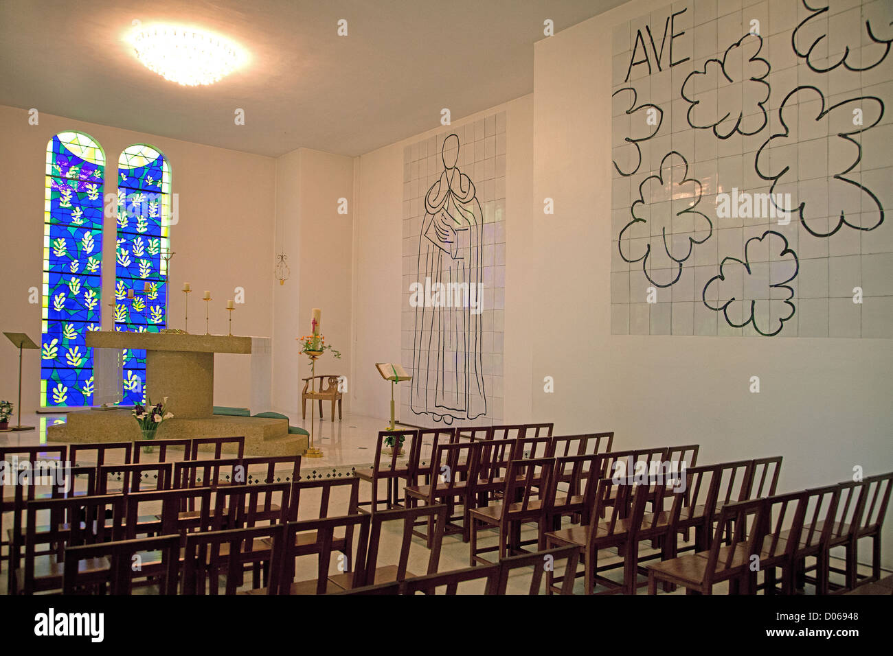 vence chapel matisse stockfotos vence chapel matisse bilder alamy. Black Bedroom Furniture Sets. Home Design Ideas
