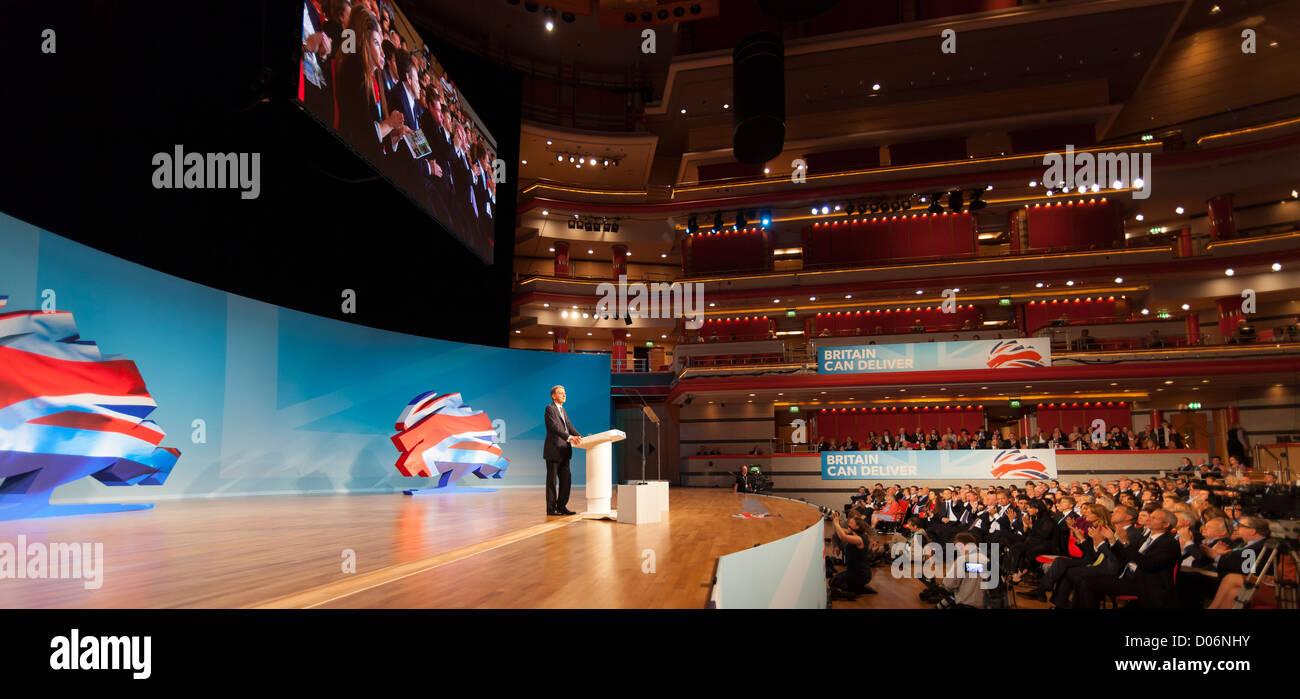 Der Parteitag der konservativen, Birmingham. In der Symphony Hall. Stockbild