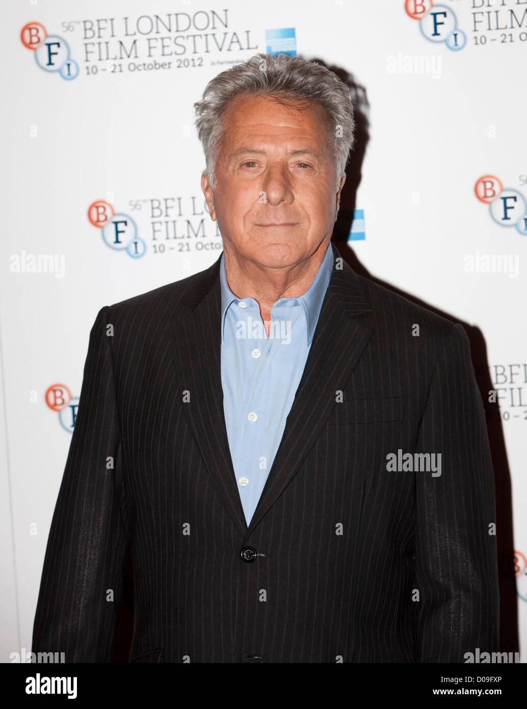 Dustin Hoffman zu einem Fotoshooting im Empire Theater FÜR DIE BFI London Film Festival, Leicester Square für Stockbild