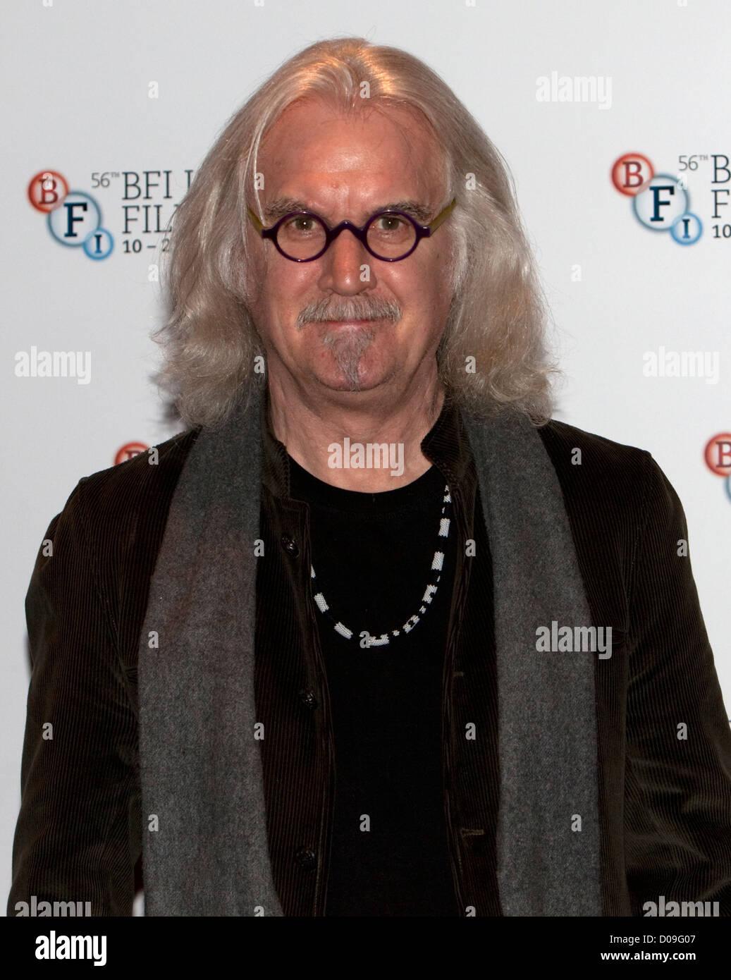 Billy Connolly bei einem Fototermin im Empire Theatre FOR THE BFI London Filmfestival, Leicester Square für Stockbild