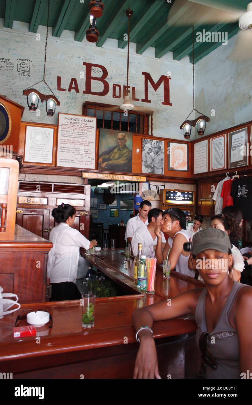 La Bodeguita del Medio, Havanna, Kuba Stockbild