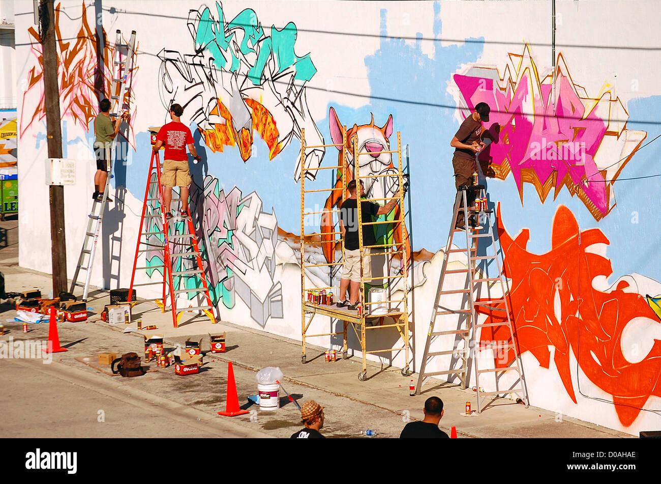 Welt Berühmten Graffiti Künstler Beteiligen Scion Trilogie Gebäude