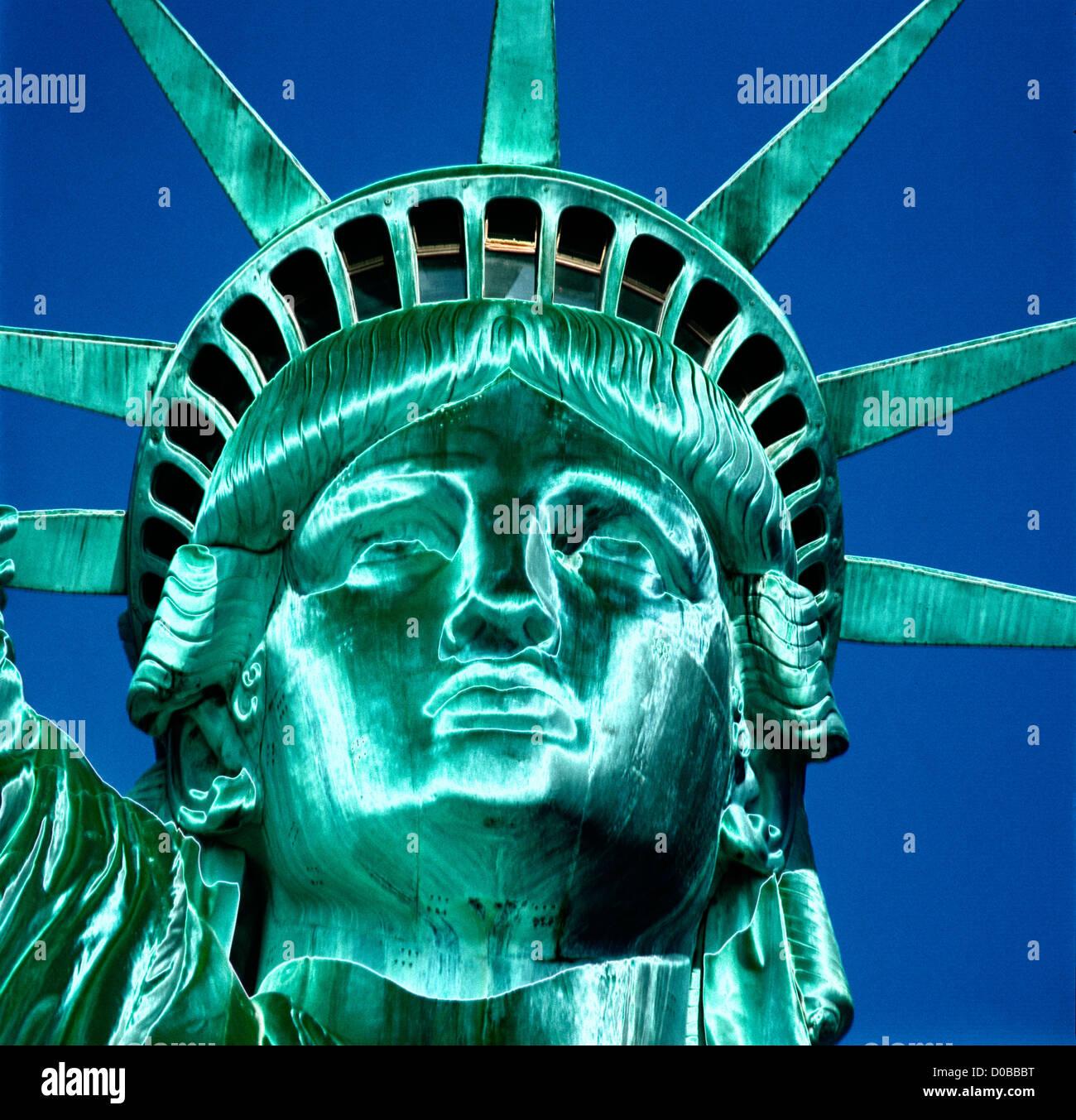 abstrakte Darstellung der New Yorker Freiheitsstatue USA Konzept Stockbild