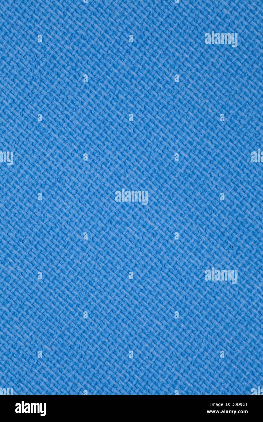 blauem Segeltuch Hintergrund, Raster Muster Cyan Textur Textile Tapeten Stockbild