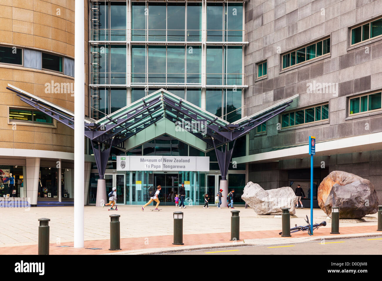 Te Papa Tongarewa Museum of New Zealand, Wellington. Stockbild