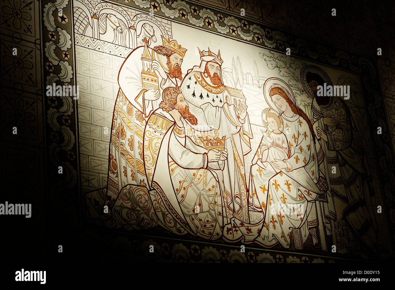 nativity painting stockfotos nativity painting bilder alamy. Black Bedroom Furniture Sets. Home Design Ideas
