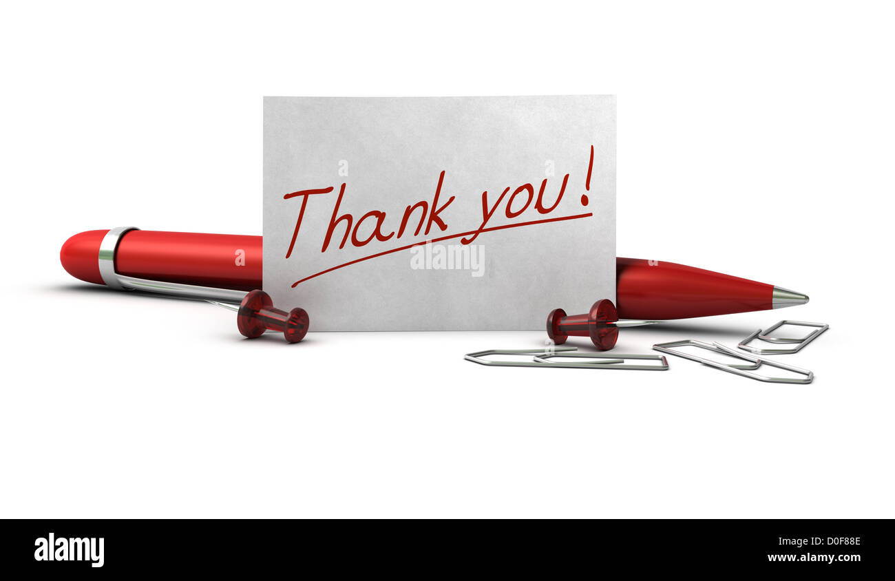 Handwritten Thank You Stockfotos & Handwritten Thank You Bilder - Alamy