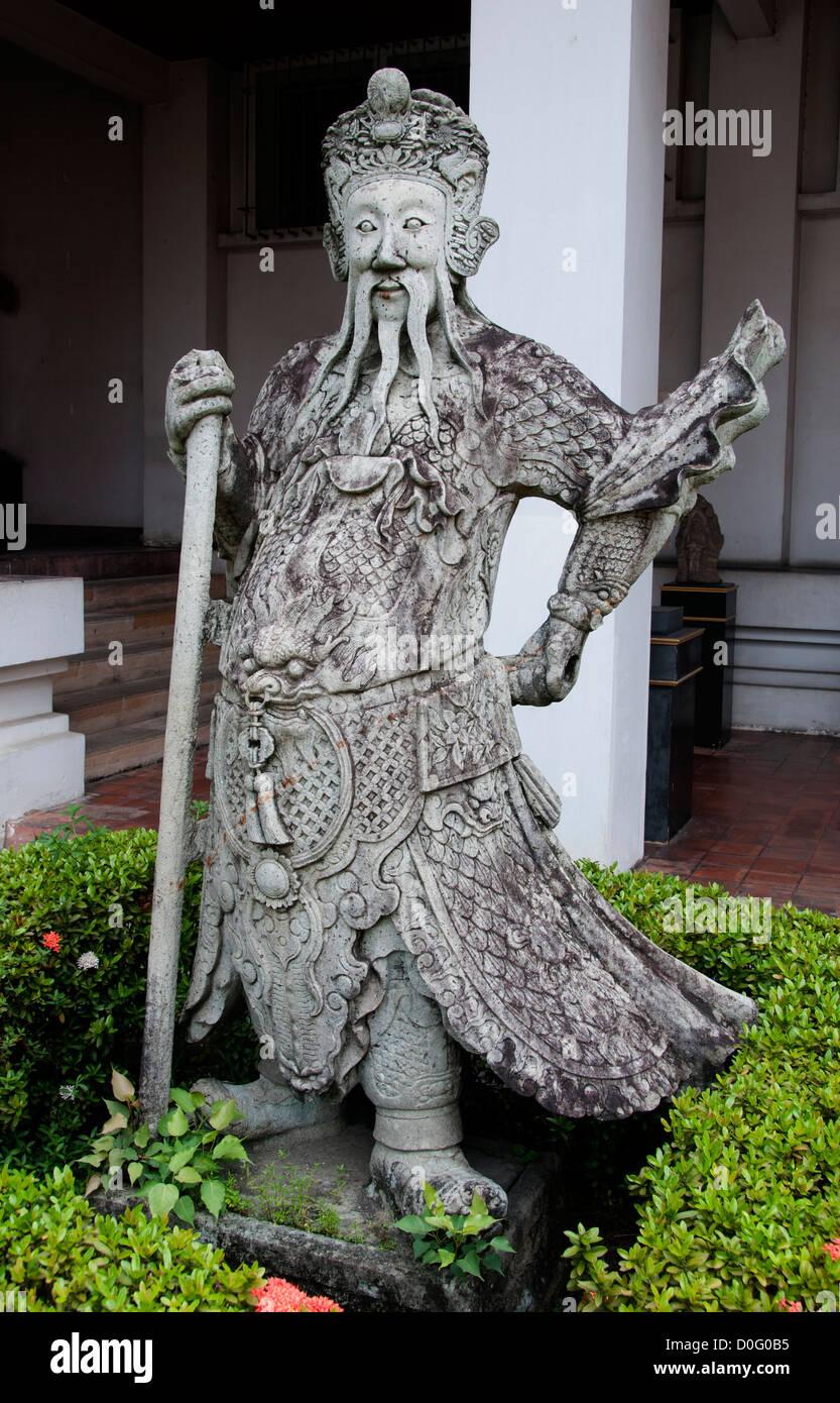 Ausländische Händler 18 Jahrhundert Nationalmuseum Bangkok Thailand Stockbild