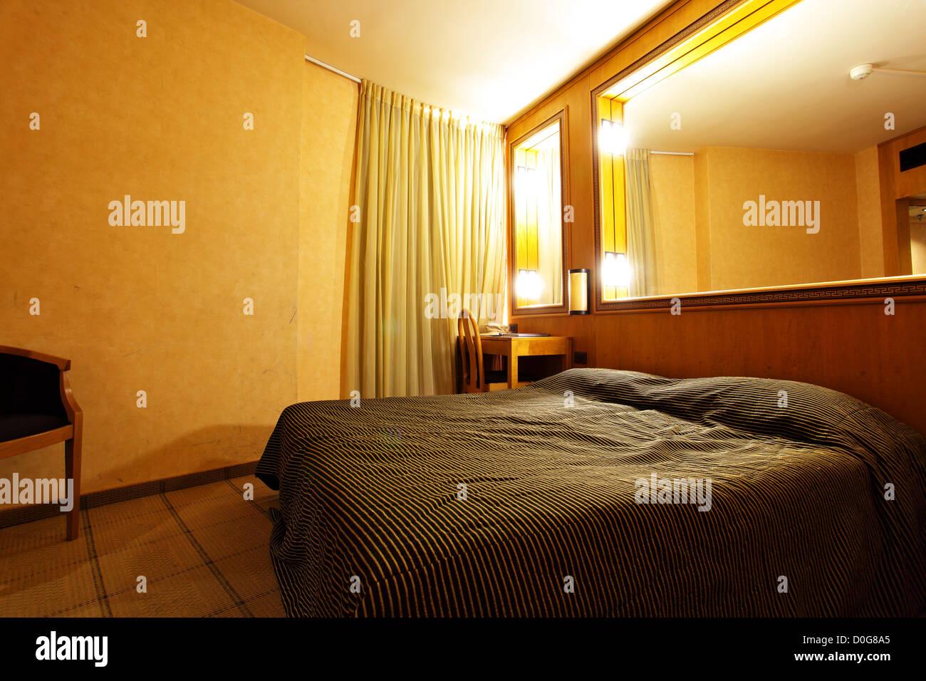 Modernes Interieur Des Hotels Oder Wohn Schlafzimmer Stockfoto Bild