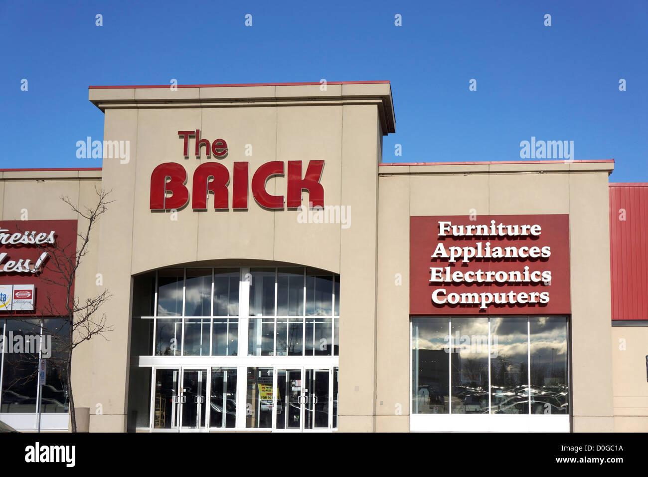 Ziegel, Möbel, Elektronik, Computer, Haushaltsgeräte Shop, Ontario Kanada Stockbild