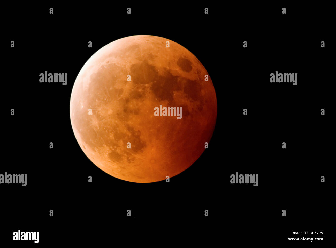 Eine totale Mondfinsternis Stockbild