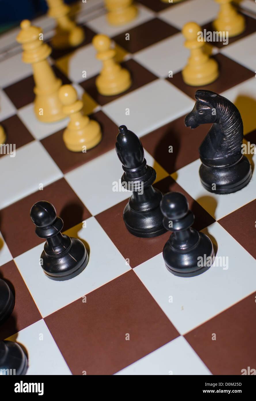 Detail von einem Schachbrett Stockbild