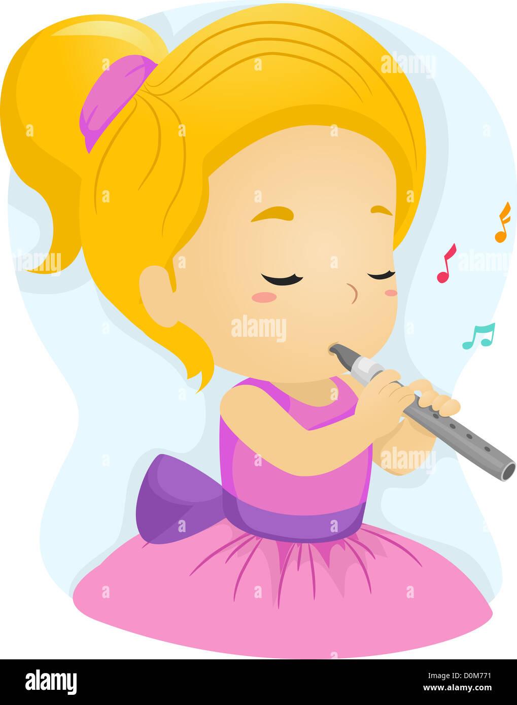 flute musical instrument cartoon stockfotos  flute