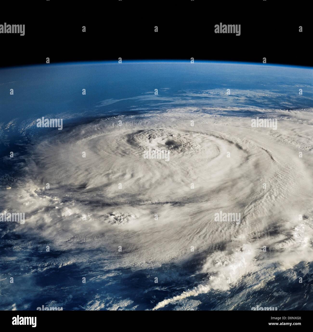 Hurrikan-Elena vom Space Shuttle Discovery aus gesehen Stockbild