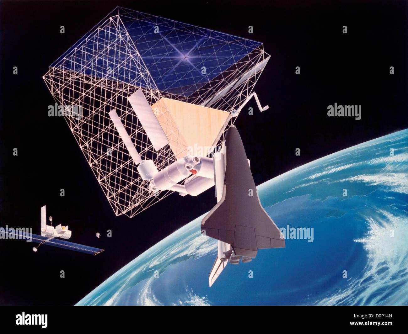 Konzept zur Raumstation Dach Stockbild
