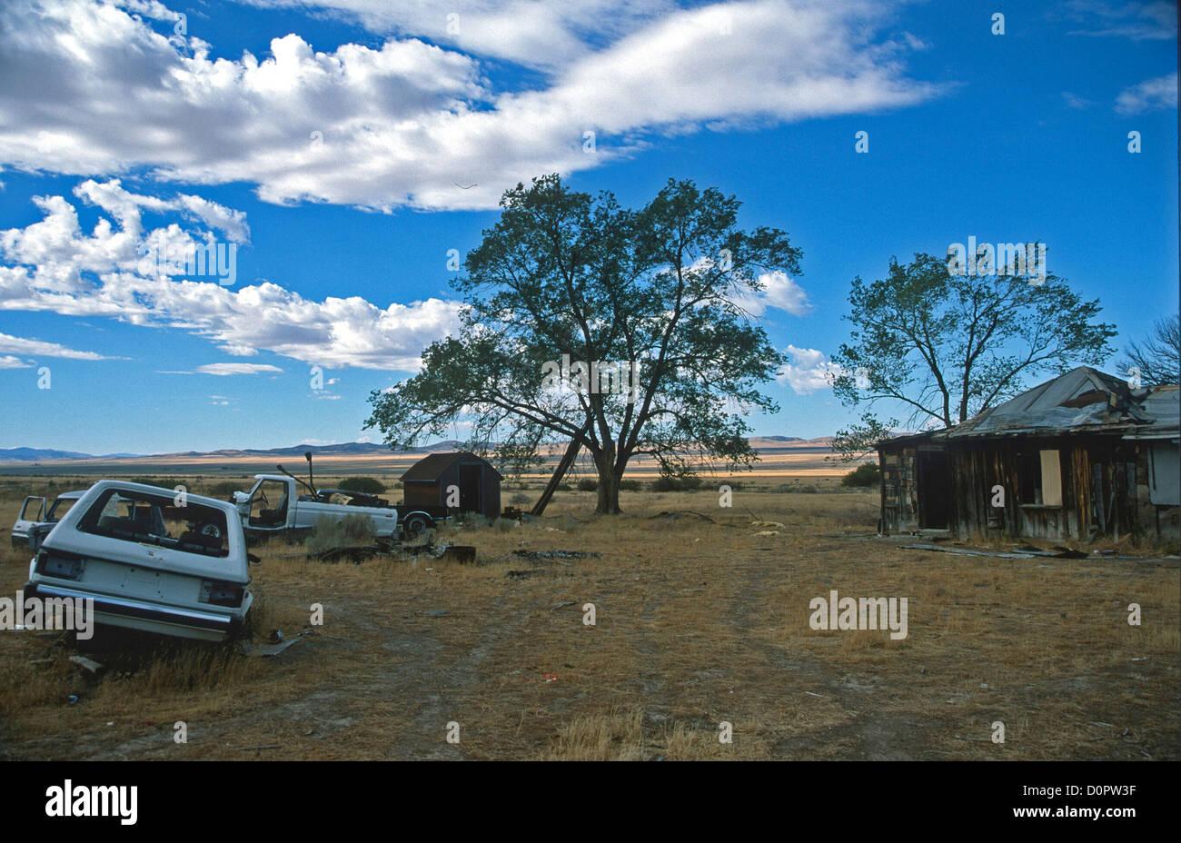 Verlassenen Gehöft im Goshute-Reservat in Skull Valley in Utah Stockbild