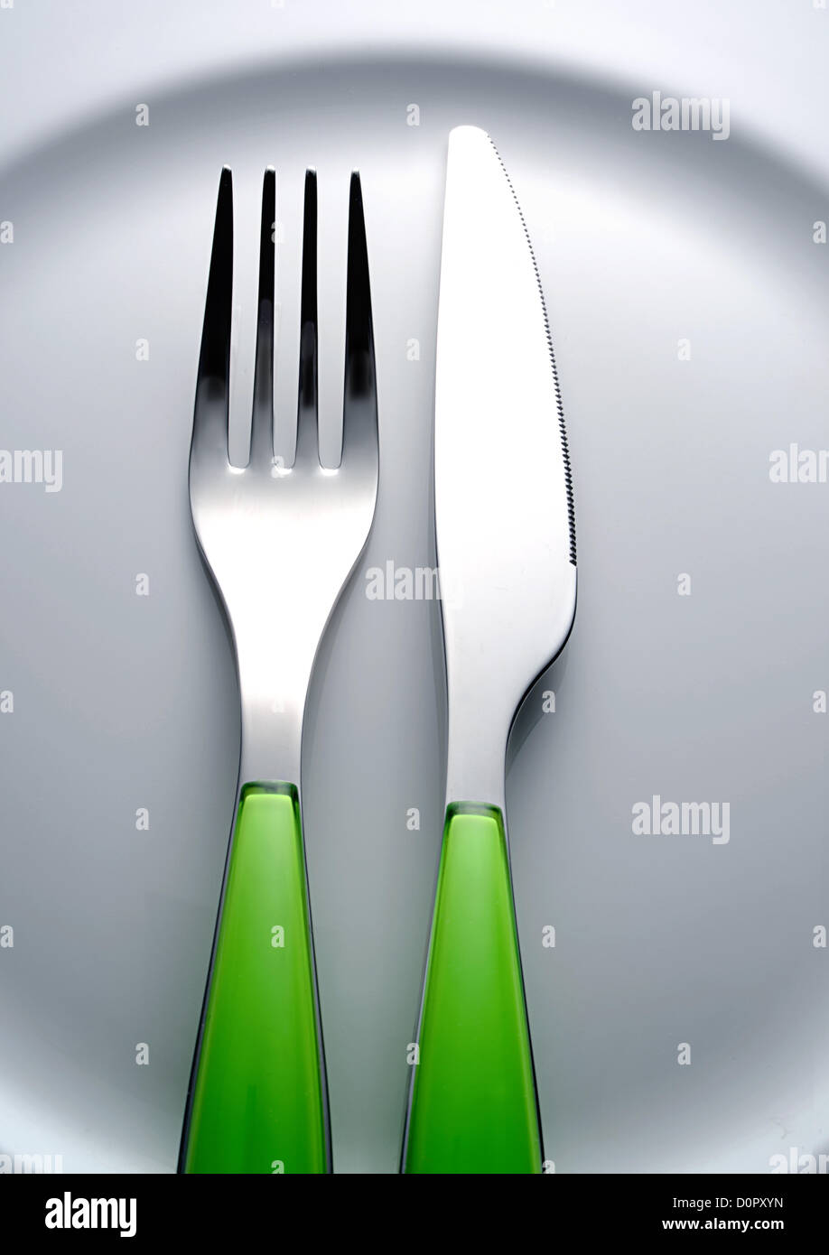 Gabel-Messer Stockfoto