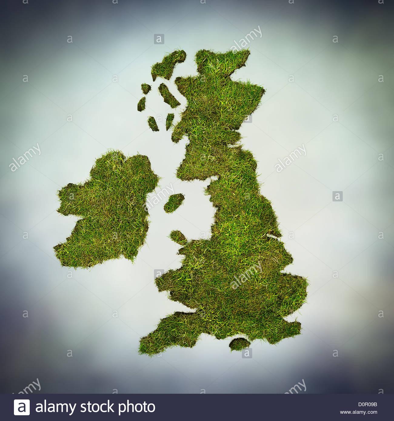 grüne UK Stockbild