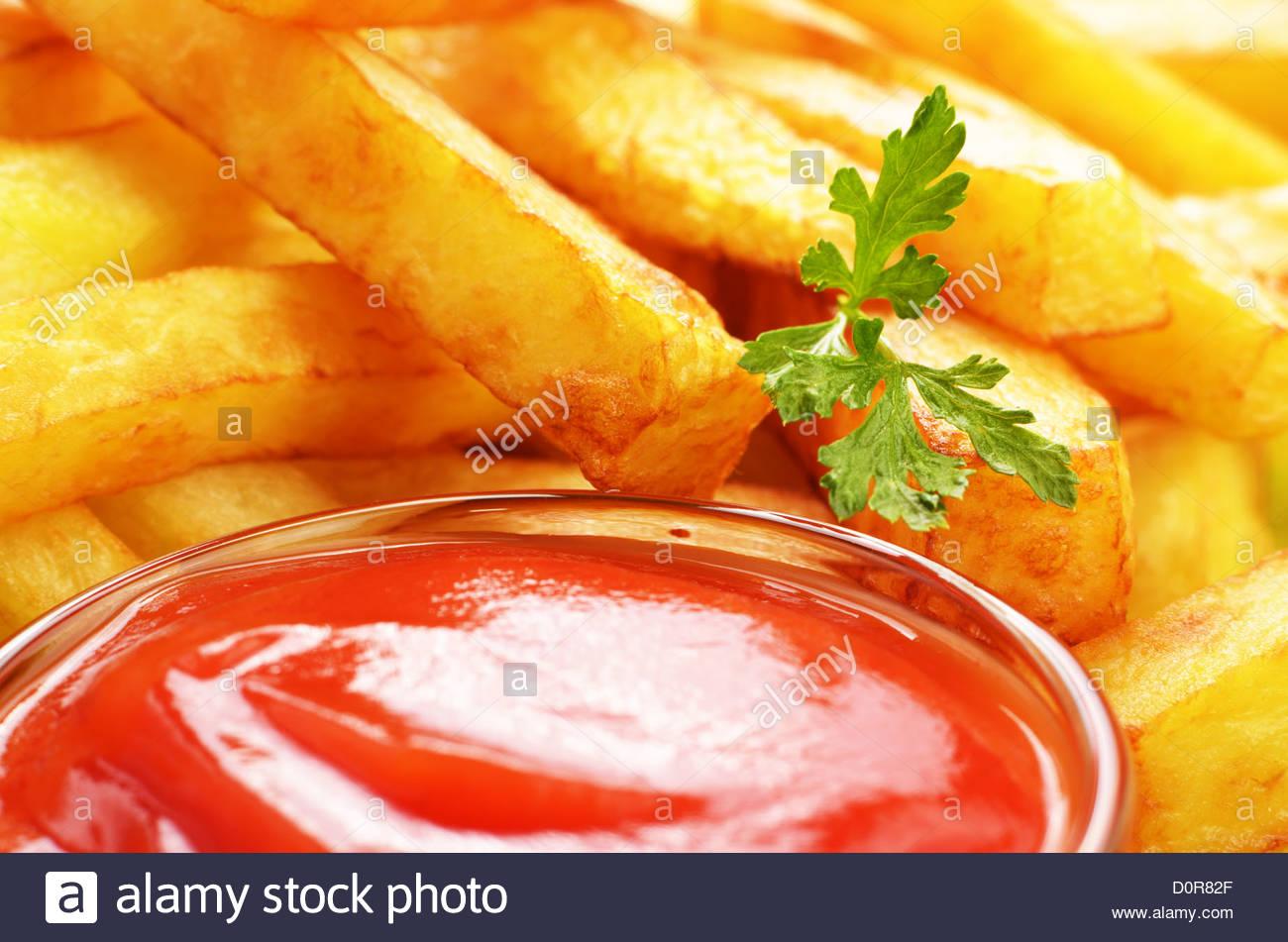 Pommes frites Stockbild